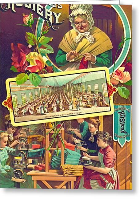 Vintage Hosiery Ad 1886 Greeting Card by Padre Art