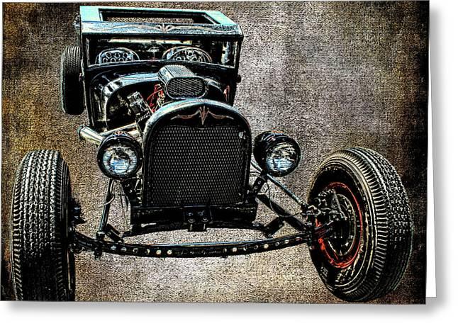 Vintage Hot Rod Car Art  Greeting Card by Lesa Fine