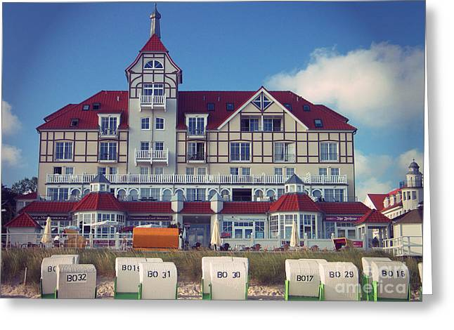 Greeting Card featuring the photograph Vintage Hotel Baltic Sea by Art Photography
