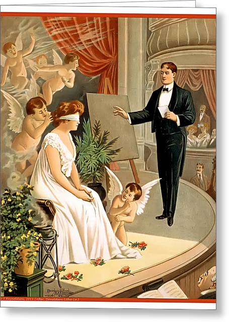Vintage Hypnotism Greeting Card by Terry Reynoldson