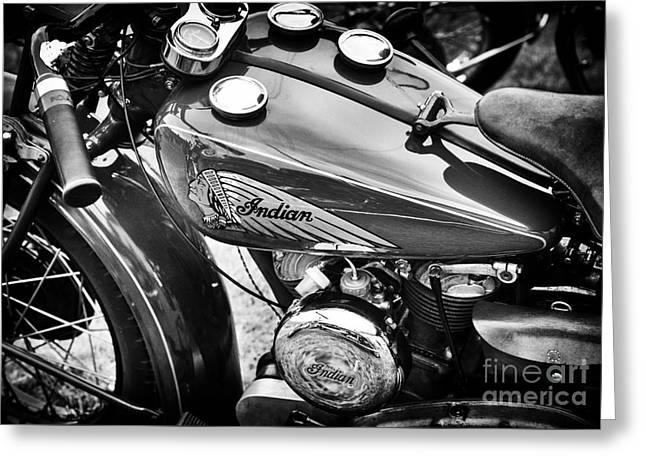 Vintage Indian Motorcycle Greeting Card by Tim Gainey
