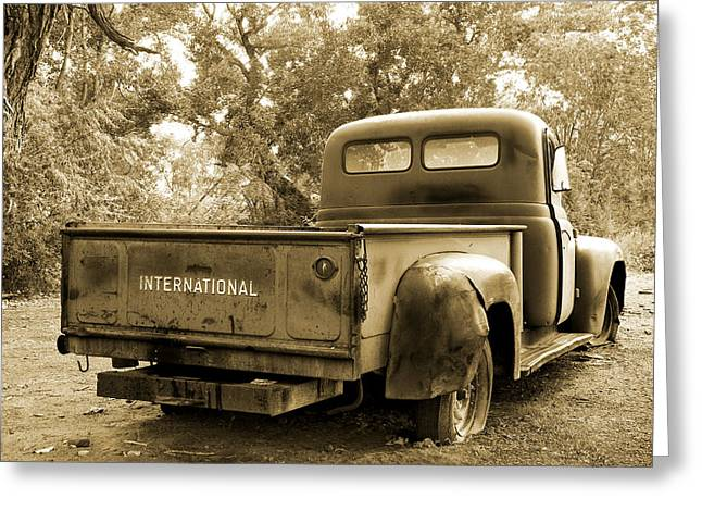 Greeting Card featuring the photograph Vintage International by Steven Bateson