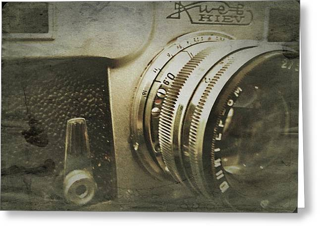Vintage Kiev Camera Greeting Card by John Colley