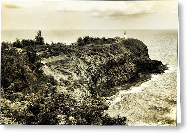 Vintage Kilauea Lighthouse Greeting Card by Photography  By Sai