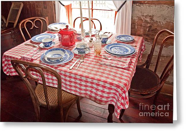 Vintage Kitchen Table Art Prints Greeting Card