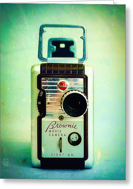 Vintage Kodak Brownie Movie Camera Greeting Card