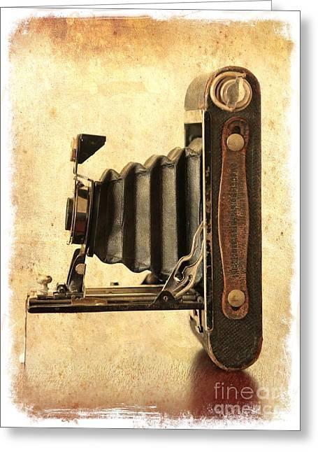 Vintage Kodak Camera Greeting Card by Carol Groenen