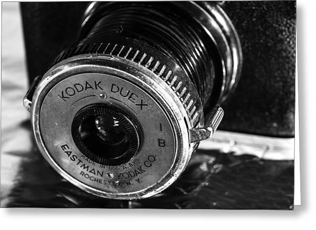 Vintage Kodak Duex Camera Greeting Card by Jon Woodhams