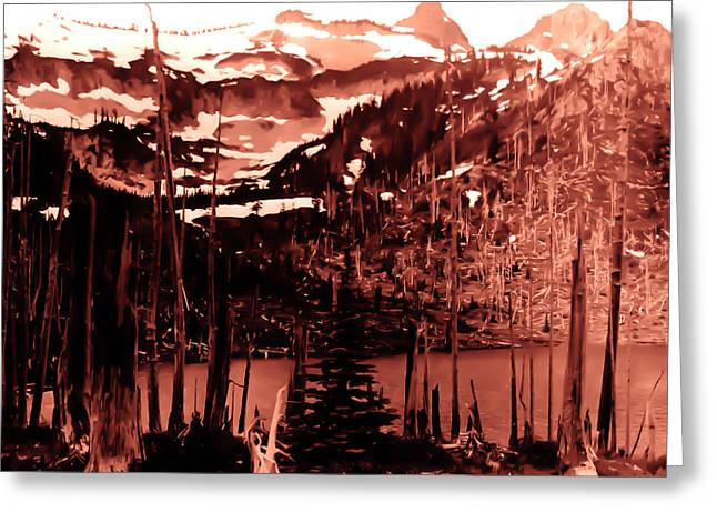 Greeting Card featuring the photograph Vintage Lake Louise Early 1900 Era... by Eddie Eastwood