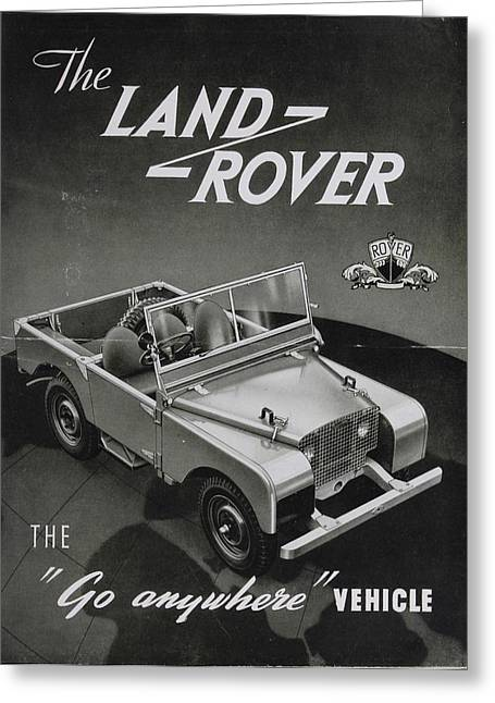 Vintage Land Rover Advert Greeting Card