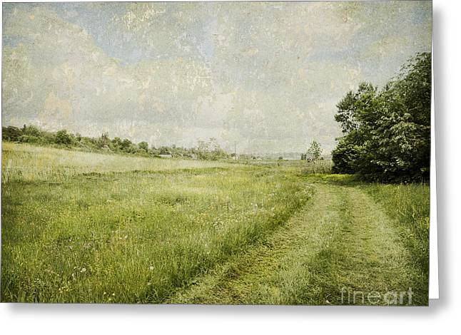 Vintage Landscape Greeting Card