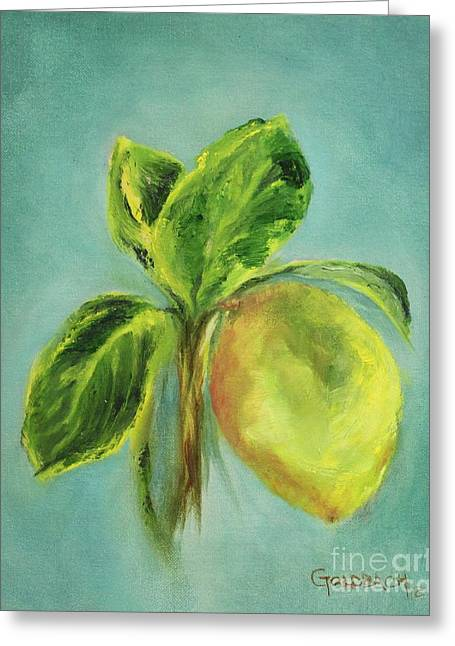 Vintage Lemon I Greeting Card