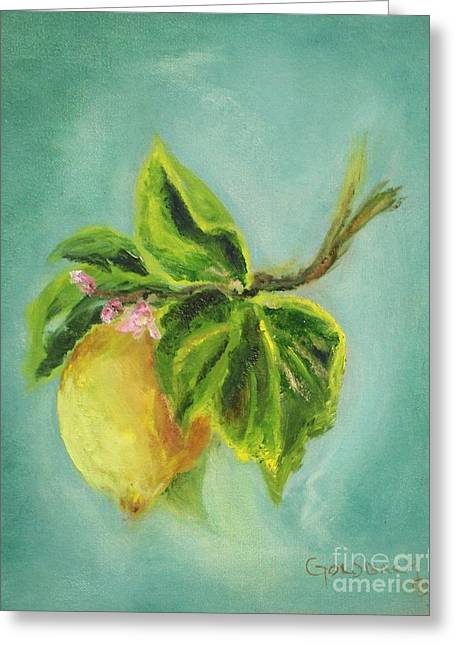 Vintage Lemon II Greeting Card