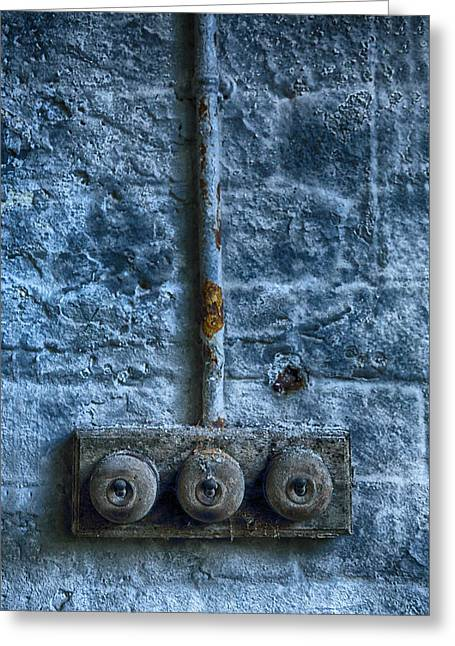 Vintage Light Switches Greeting Card by Russ Dixon