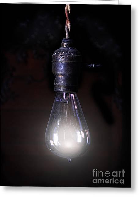 Vintage Lightbulb Greeting Card