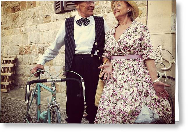 Vintage Love At L'eroica Greeting Card