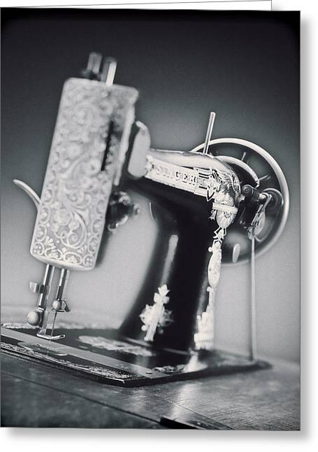 Vintage Machine Greeting Card by Kelley King