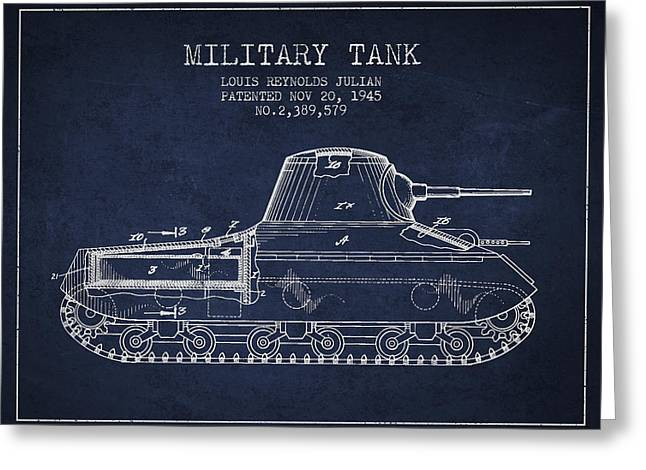 Vintage Military Tank Patent From 1945 Greeting Card