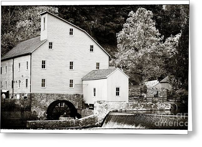 Vintage Mill Greeting Card by John Rizzuto