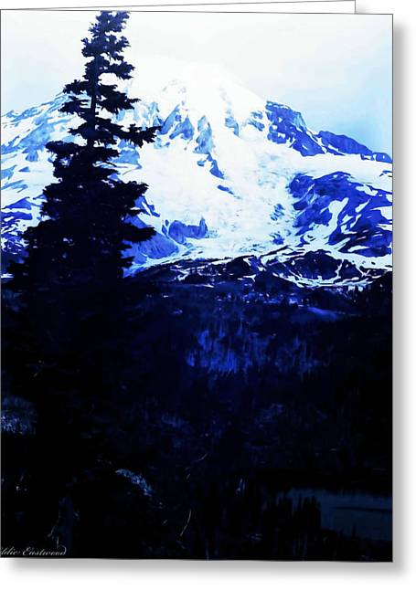 Greeting Card featuring the photograph Vintage Mount Rainier And Reflexion Lake In The Foreground Early 1900 Era... by Eddie Eastwood