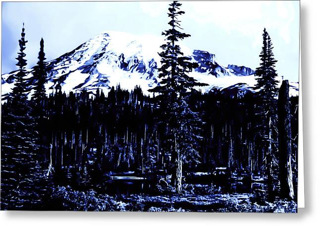 Greeting Card featuring the photograph Vintage Mount Rainier Early 1900 Era... by Eddie Eastwood