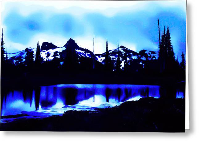 Greeting Card featuring the photograph Vintage Mount Rainier With Longmire Springs In The Foreground Early 1900 Era... by Eddie Eastwood