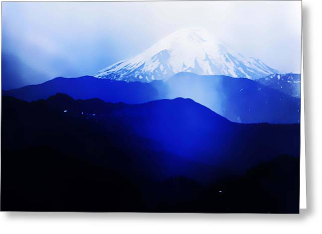 Greeting Card featuring the photograph Vintage Mount St. Helens From Pinnacle Peak Early 1900 Era... by Eddie Eastwood