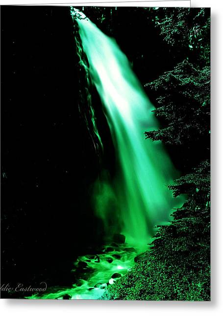 Greeting Card featuring the photograph Vintage Narada Falls Early 1900 Era... by Eddie Eastwood