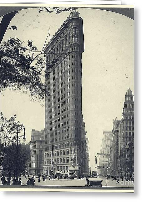 Vintage New York City Flatiron Building Greeting Card