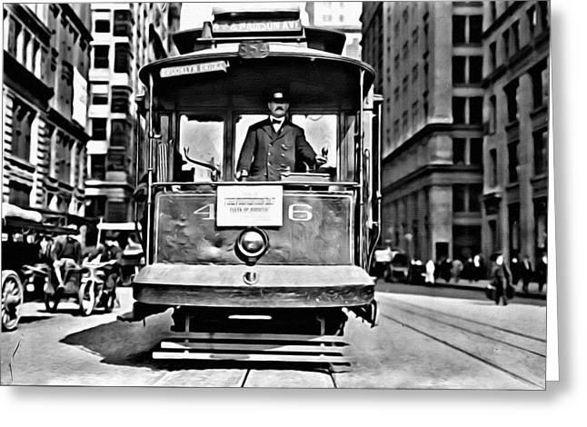 Vintage New York Streetcar Greeting Card