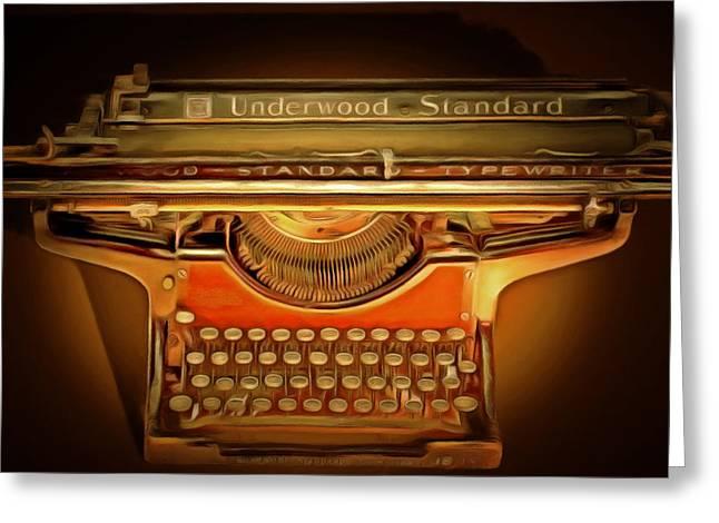 Vintage Nostalgic Typewriter 20150228 Square Greeting Card