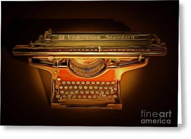 Vintage Nostalgic Typewriter 20150228 Greeting Card