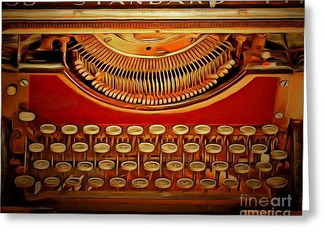 Vintage Nostalgic Typewriter 20150228v2 Greeting Card