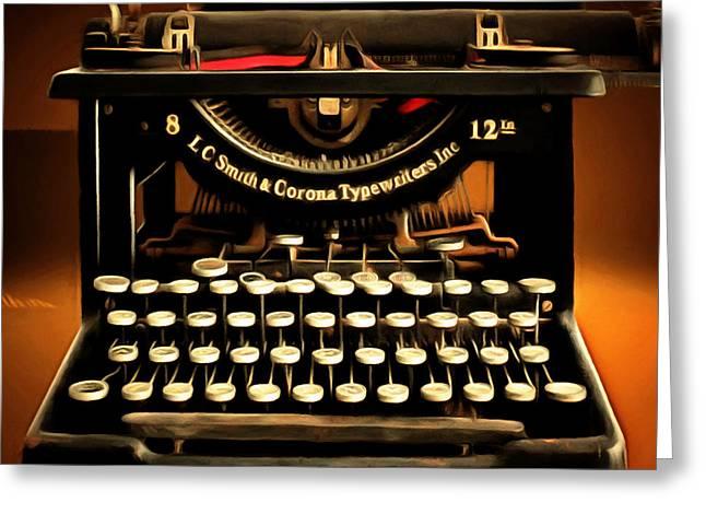 Vintage Nostalgic Typewriter 20150302 Square Greeting Card
