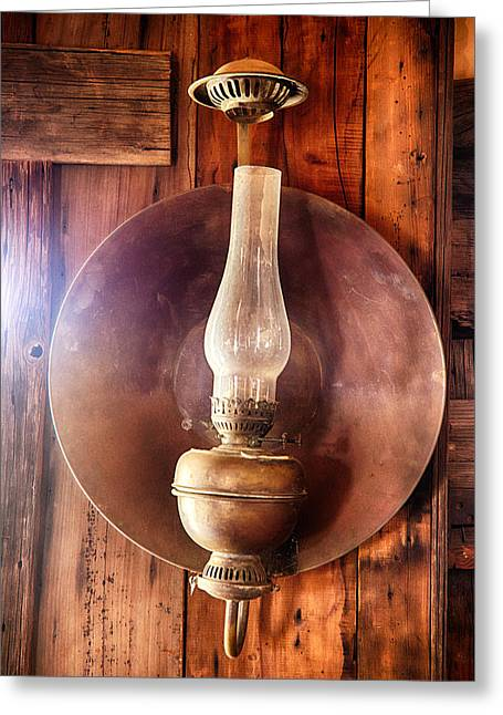 Vintage Oil Lamp  Greeting Card by Saija  Lehtonen