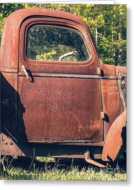 Vintage Old Rusty Truck Greeting Card by Edward Fielding