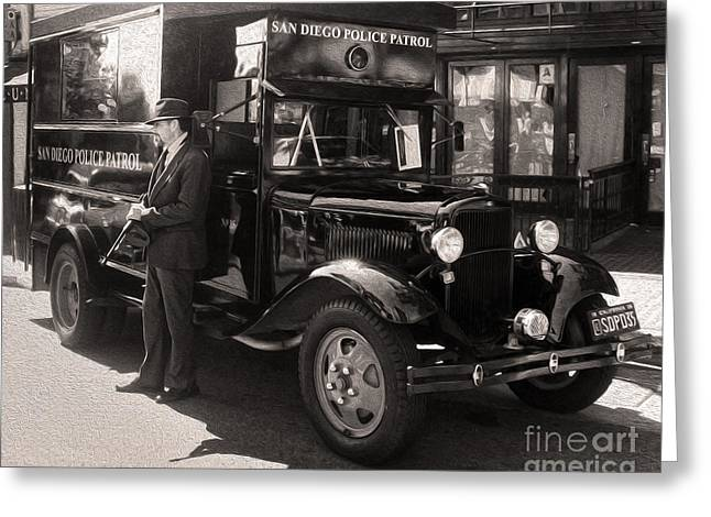 Vintage Paddy Wagon Greeting Card