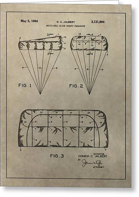 Vintage Parachute Patent Greeting Card