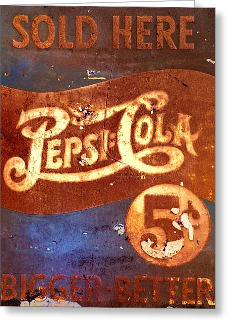 Vintage Pepsi Greeting Card by Bill Cannon