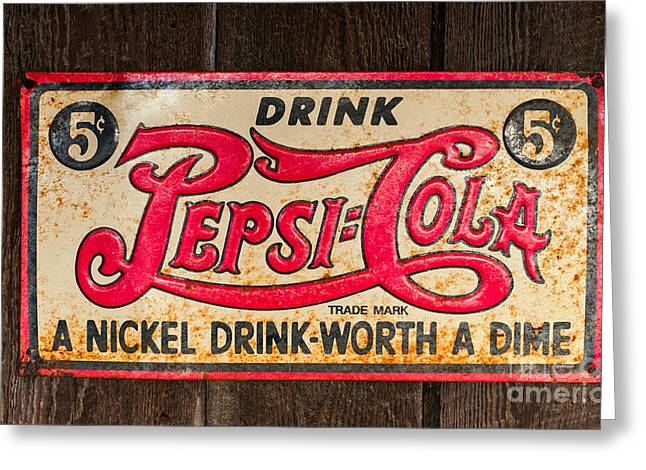 Vintage Pepsi Cola Ad Greeting Card