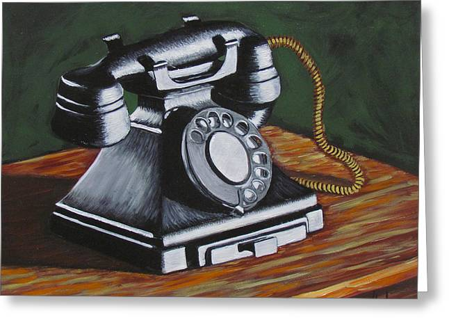 Vintage Phone 2 Greeting Card