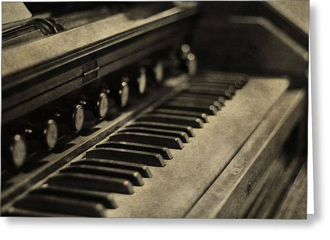 Vintage Piano Greeting Card by Dan Sproul