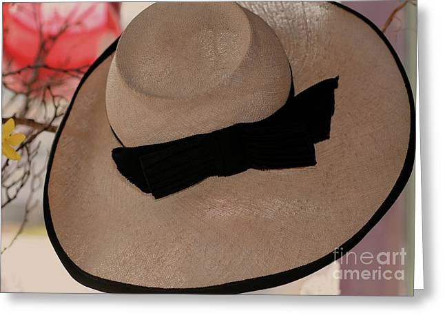 Vintage Picture Hat Greeting Card by Kathleen Struckle