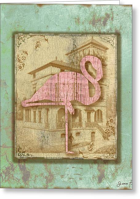 Vintage Pink Flamingo-2 Greeting Card
