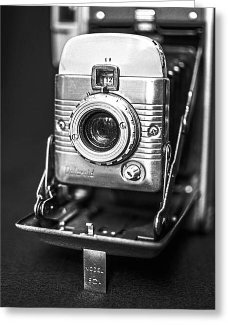 Vintage Polaroid Land Camera Model 80a Greeting Card by Jon Woodhams