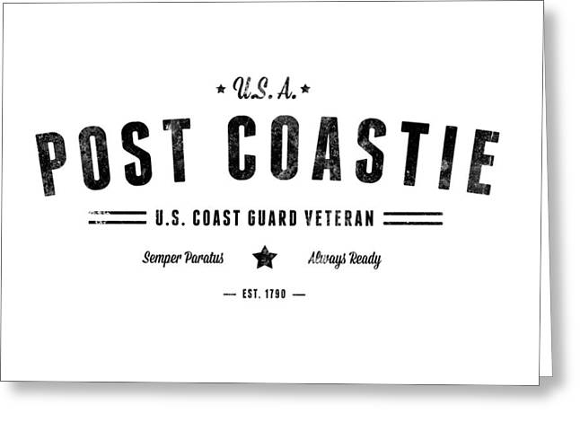 Vintage Post Coastie Greeting Card