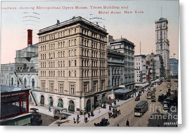 Vintage Postcard Of Broadway Greeting Card