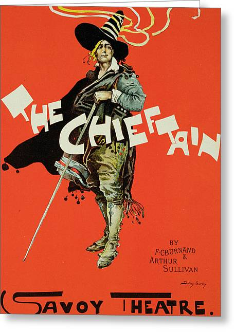 Vintage Poster For The Chieftain At The Savoy Greeting Card by Dudley Hardy