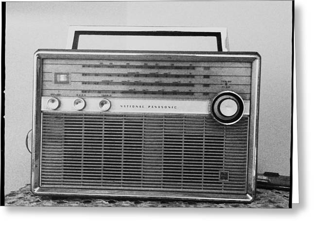 Vintage Radio Greeting Card by Marco Oliveira