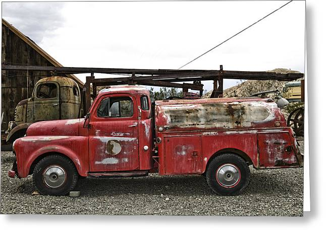 Vintage Red Chevrolet Truck Greeting Card by Gianfranco Weiss